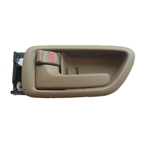 Fit Toyota Sequoia Tundra Inside Front Rear Left Side Beige Door Handle 01-07
