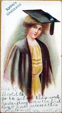 1907 'Lowney's Chocolates' Advertising Postcard: College Girl, Postally-Used