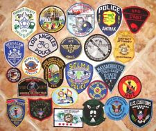 Set of 25 US Police  Patches lot