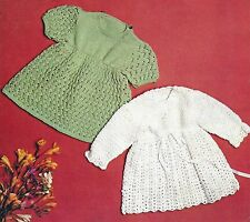 BABY DRESS TO KNIT & CROCHET PATTERN  18/20 INCH  (717)