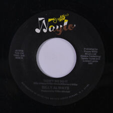 BILLY ALWAYS: Didn't We Do It / More Than A Minute 45 (Boogie Modern Soul)