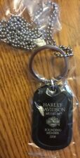2008 HARLEY-DAVIDSON Museum Founding Member DOG TAG - KEY RING, New in Package!