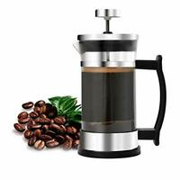 French Press Coffee Maker, Stainless Steel and Borosilicate Glass ,12 Oz/350 ml
