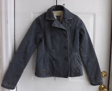 Abercrombie and Fitch Women Distressed Sherpa Lined Jacket Size XS
