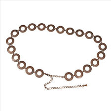 EUC Tarnished Bronze Metal Circles Belt with Chain