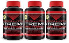 3 Bottles Absonutrix L-ARGININE Nitric Oxide power formula pre workout 3000mg