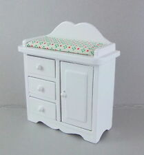 Melody Jane Dolls House Miniature Nursery mobilier bébé blanc table à langer
