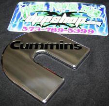 1 Cummins Chrome plate zink emblem dodge decal plaque turbo diesel badge cumming