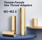 M2 & M2.5 Female-Female Knurled Thread Adapters Spacer Thread Pillar Brass Studs