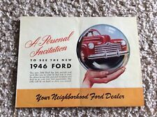 1946 ford A personal invitation original dealership mailer