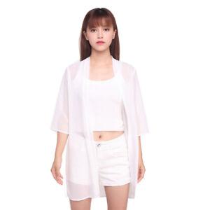 Women's Sheer Shawl Kimono Cardigan Tops Summer Holiday Beach Cover Up Blouse