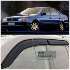 Wide Window Visors Side Guard Vent Deflectors For Toyota Carina E Sd 1992-1997