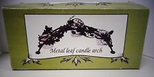 Metal Leaf Candle Arch (new in box)