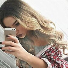 Fashion Women's Long Wavy Wig Ombre Black/Blonde Synthetic Hair Full Hair Wigs#