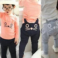 FOR Kids Baby Boys Girls Harem Pants Cotton Trousers Toddler Casual HOT Leggings