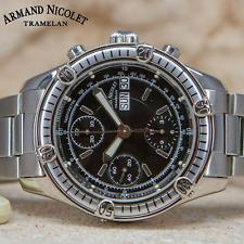 Armand Nicolet Chronograph Automatic 7750 Watch 9066A-NR-M9090 Authorized Dealer
