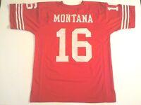 UNSIGNED CUSTOM Sewn Stitched Joe Montana Red Jersey - M, L, XL, 2XL