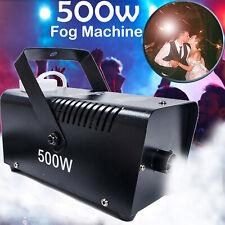 More details for 500w fog smoke machine fogger halloween party club disco dj effect wire control