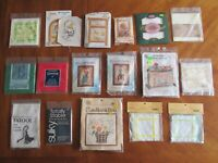 Mixed Lot Cross Stitch Kits Duck Tales Aida Cloth Candle Wicking Tasslemaker ++