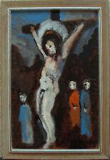 Axel Eriksson 1923-2010 ,Expressive religiöse Szene, um 1960/70