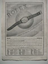 1942 Advertisement Advertising Watches Rolex Oyster Perpetual Graphics Zanoni 38x28