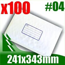 #04 x 100 Bubble Mailers 241x343mm Padded Bag Envelope B4 BM4 #4