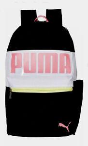 PUMA Evercat Rhythm Backpack Black/Pink Women's Gym/Exercise/School/Laptop NEW.