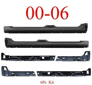 00 06 Chevy SUV 6Pc Inner & Outer Extended Rocker Panel Tahoe Yukon Suburban