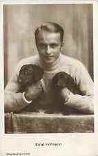 Dogs, Actor Ernst Hofmann with Two Little Dachshunds, Old Postcard