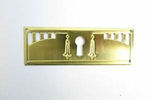 Fogging Brass Furniture Fitting Antique Art Nouveau Drawer