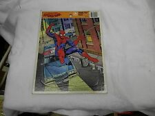 the amazing spiderman frame tray puzzle golden vintage collectible complete