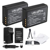 2x LP-E10 Battery + Charger + Bonus Kit for Canon EOS T3 EOS T5 1100D LC-E10E T6