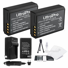 2x LP-E10 Battery + Charger + Bonus Kit for Canon EOS T3 EOS T5 1100D LC-E10E T6
