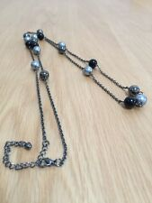 Flapper Style Fashion Grey Tones Necklace Max 41 Inches