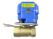 "MISOL motorized ball valve brass, G3/4"" DN20,2 way, CR05 12VDC, electrical valve"