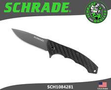 Schrade Folding Knife Ultra-Glide 9Cr18MoV Blade Carbon Fiber Handle SCH1084281