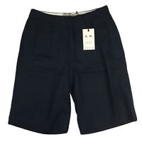RM Williams Womens Amby Wide Leg Linen Shorts Navy Blue Size 10 RRP $119