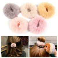 Plush Furry Rubber Hair Ring Soft Ponytail Elastic Rope Kids Adult Hair Band