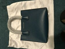 New Michael Kors Mercer Messenger Leather Bag in Dark Teal Blue