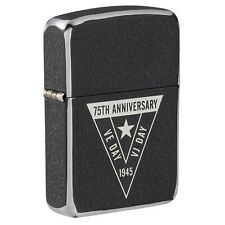 More details for zippo genuine ve/vj 75th anniversary collectibles windproof cigarette lighter