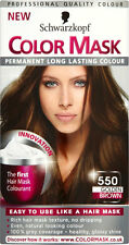 SCHWARZKOPF COLOR MASK 550 GOLDEN BROWN PERMANENT COLOUR
