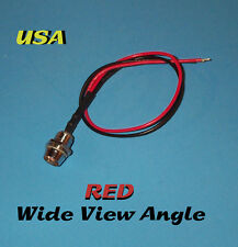 LED - 5mm PRE WIRED 12V WITH CHROME BEZEL - WIDE RED