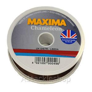 GENUINE Maxima Chameleon Brown 100m Spool Monofilament Mono Fishing Line
