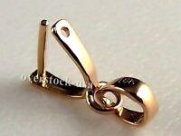 18k Rose Gold Diamond Pendant Clasp Hook / Big Size
