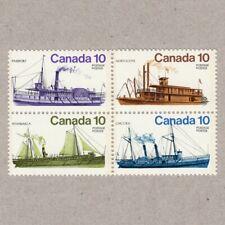 bq. SHIPS = Inland = Lake = river = block of 4 MNH Canada 1976 #700-703