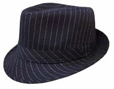 WHOLESALE LOTS 12 PCS Pin Stripe Black Fedora Gangster Bucket Hat-Size-S/M,L/XL