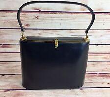 True Vintage Coblentz Black Leather Purse Hand BAG EVENING Excellent Condition