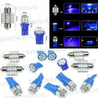 13pc T10 & 31mm Ice Blue Interior LED Bulbs Car Map Dome Door Interior LED Light
