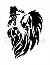 """YORKIE"" Dog Face Yorkshire Terrier 8.5"" x 11"" Stencil Plastic Sheet NEW S127"