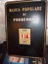 PORDENONE CALENDARIO PERPETUO PUBBLICITARIO BANCA POPOLARE PEZZO STORIA FUNZIONA